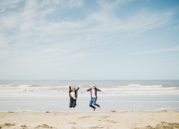 LISA AND DAN'S PRE-WEDDING SHOOT AT FORMBY POINT