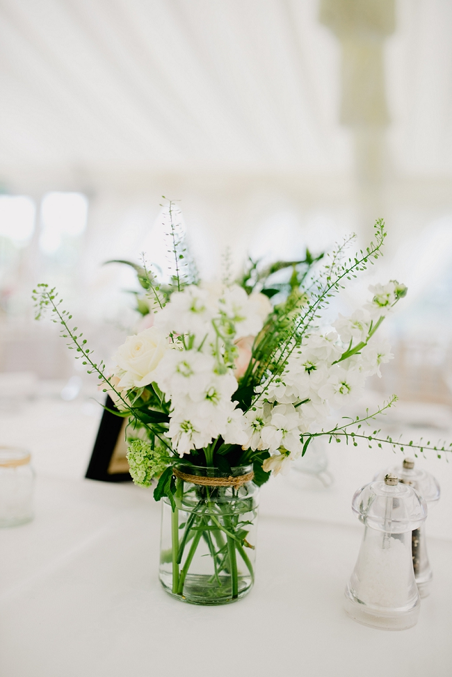wedding flowers at hilltop country house