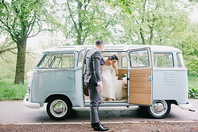 A VINTAGE INSPIRED RIVINGTON HALL BARN WEDDING FEATURING A POWDER BLUE VW CAMPER