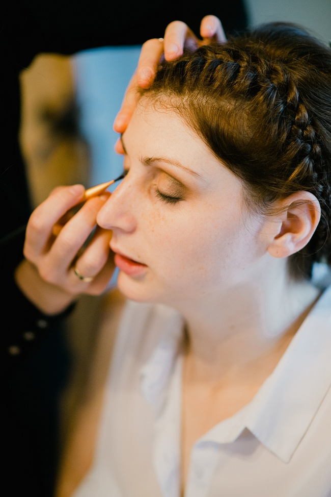 wedding make-up dalby forest wedding