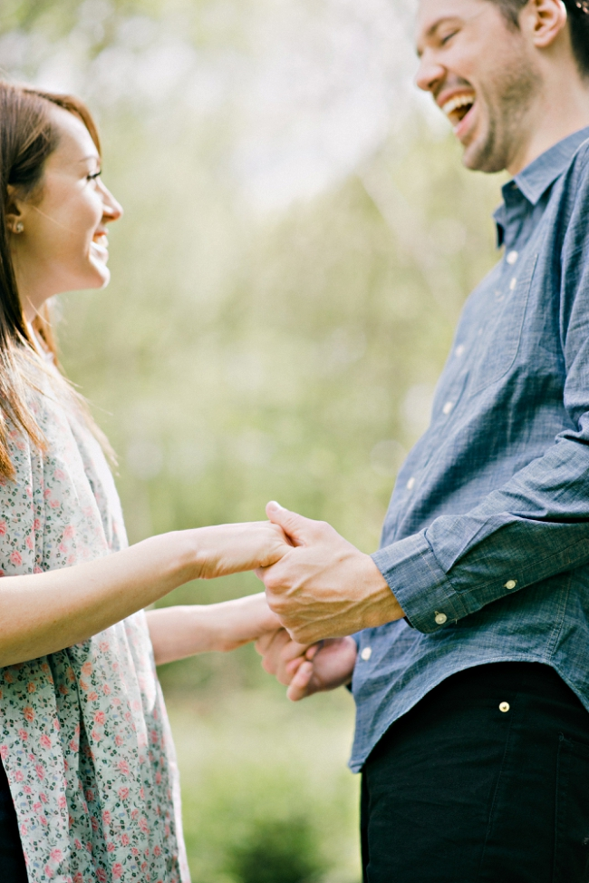 engaged couple holding hands at a pre wedding shoot