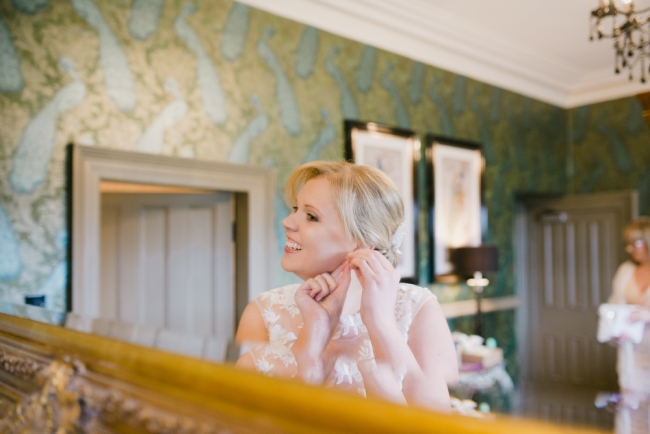 AN INTIMATE WEDDING AT MITTON HALL WITH A PRIVATE DINNER AND BAGPIPES