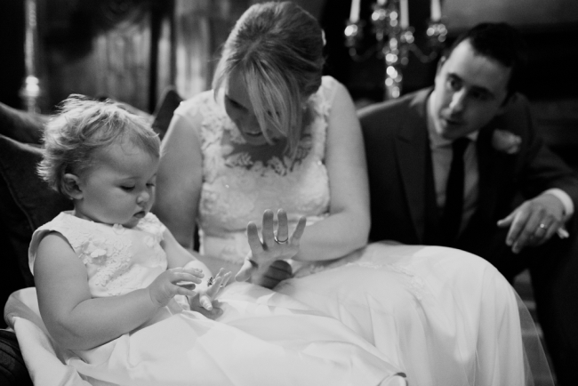 family wedding with children at mitton hall