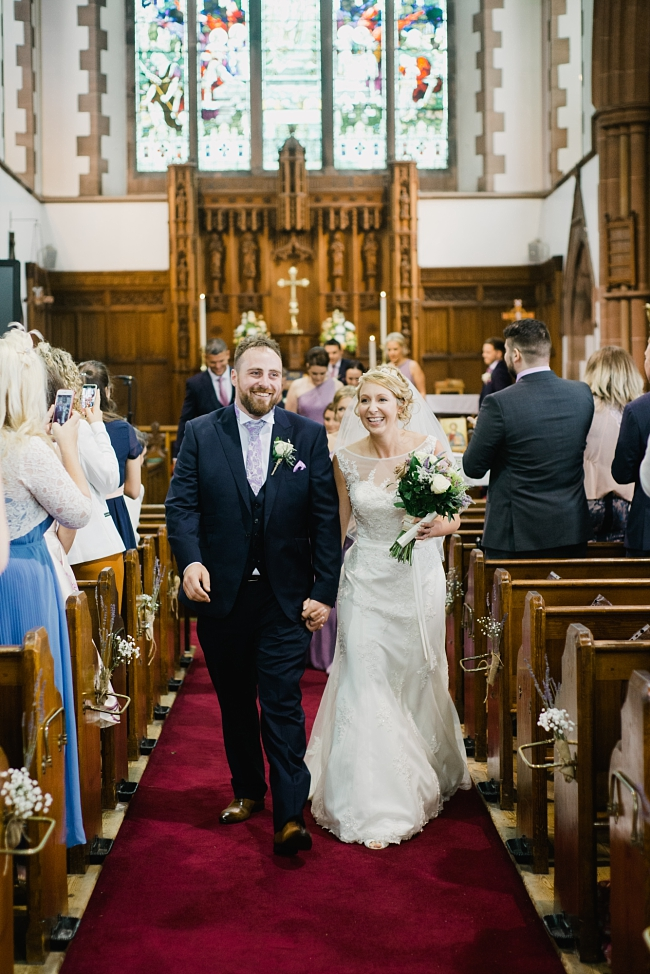 wedding at St Andrew's church Longton