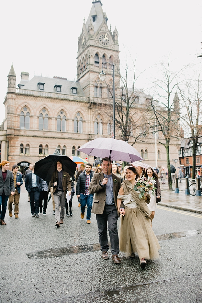chester town hall wedding in the rain