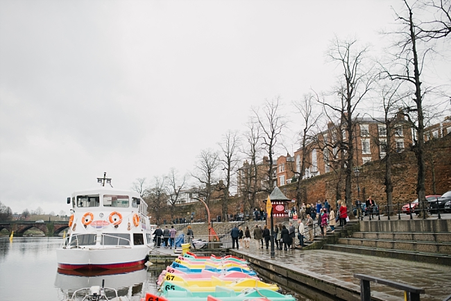 wedding on a boat in chester