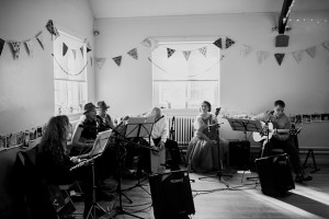 live folk band at an eccleston village hall wedding
