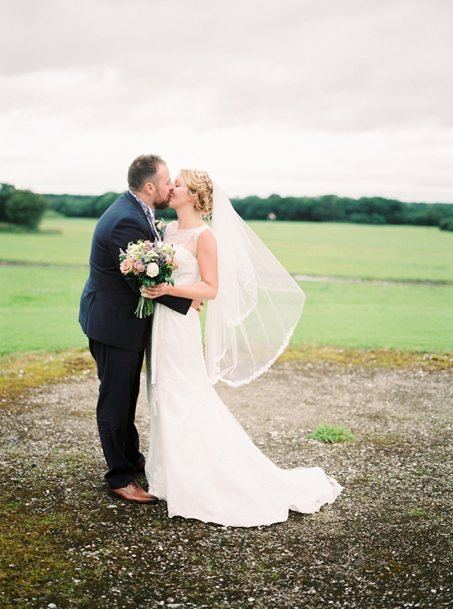 bride and groom in Lancashire