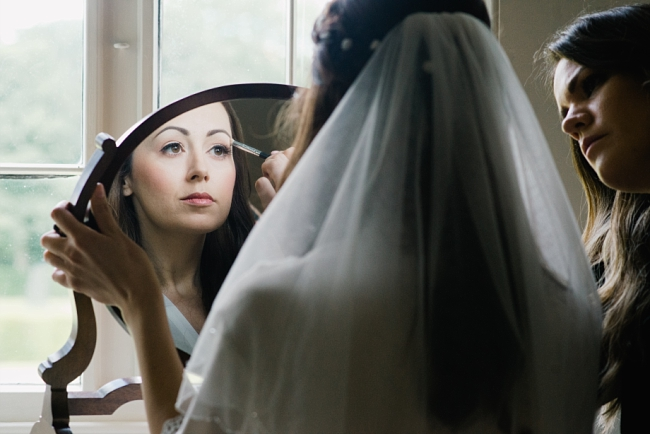 make-up in reflection