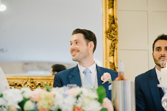 groom at table