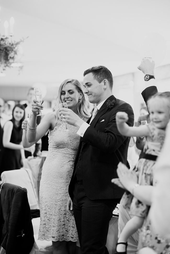 guests toasting