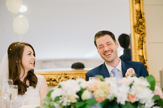 laughter at wedding