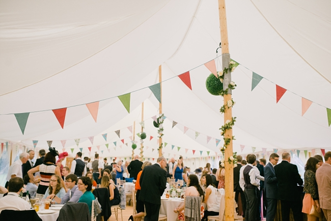 garden party in marquee