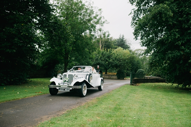 Glebe farm wedding car