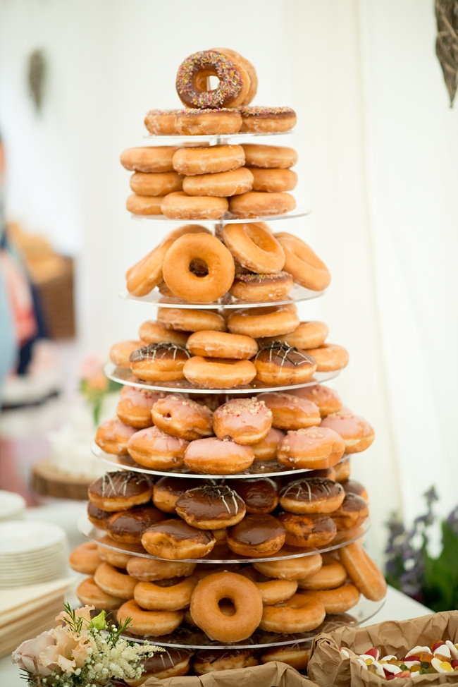 doughnuts wedding cake