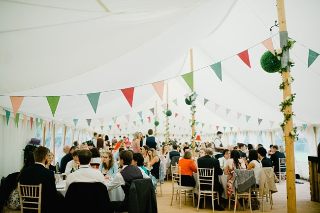 bunting in marquee