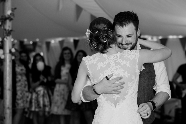 first dance under bunting