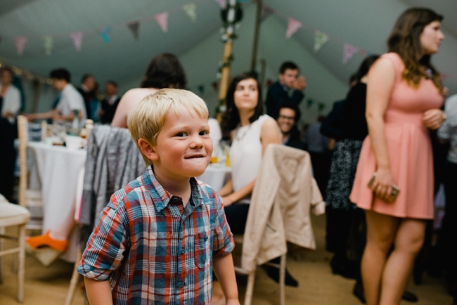 child at wedding reception