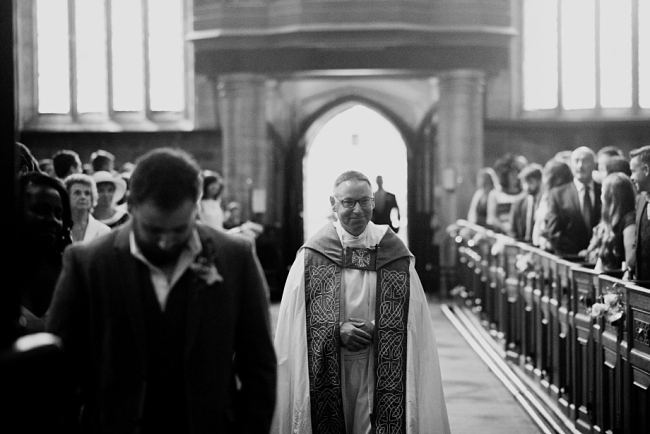 vicar at wedding ceremony