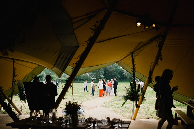 A tipi wedding in Hereford
