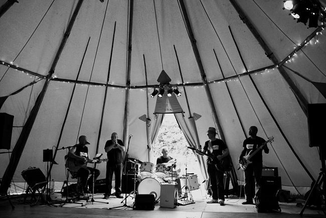 wedding band in tipi