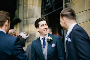 groom chatting