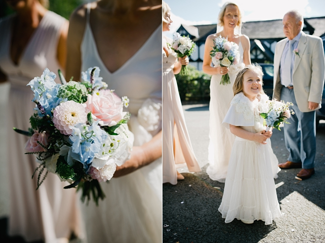 bouquet and bridesmaids