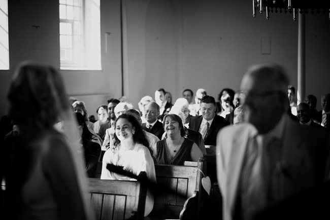 guests in pews