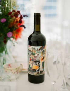 pretty wine bottle for wedding