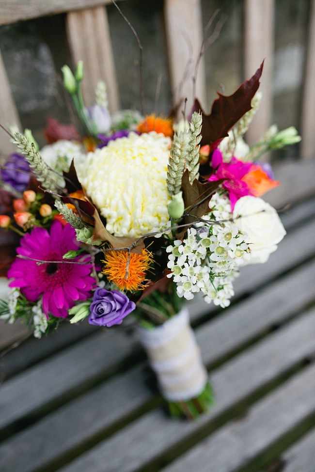 autumnal bright bouquet