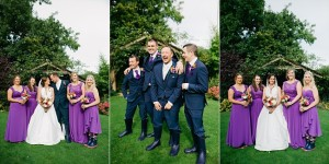 garstang hotel wedding in purple