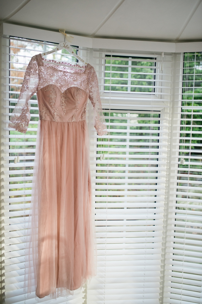 dusky pink bridesmaids dress