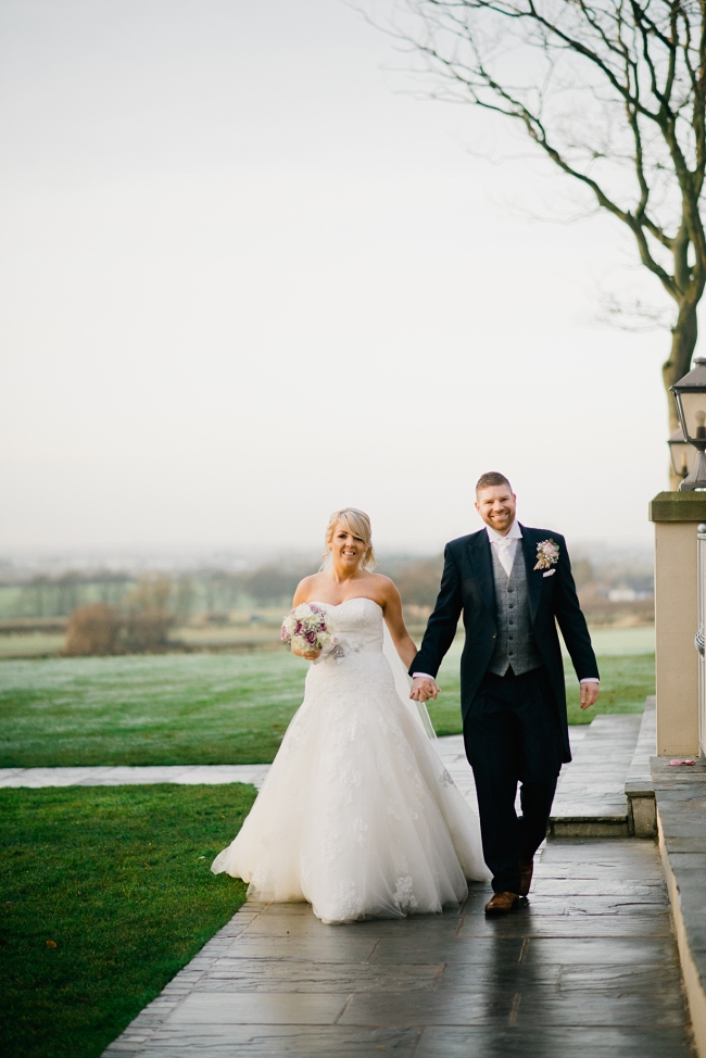 bride and groom in ormskirk