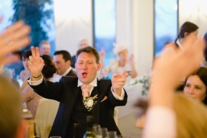 guest singing at wedding