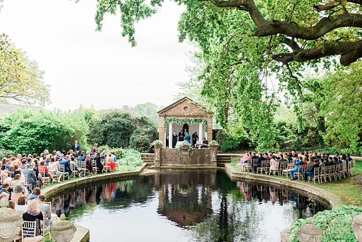 micklefield hall outdoor wedding ceremony