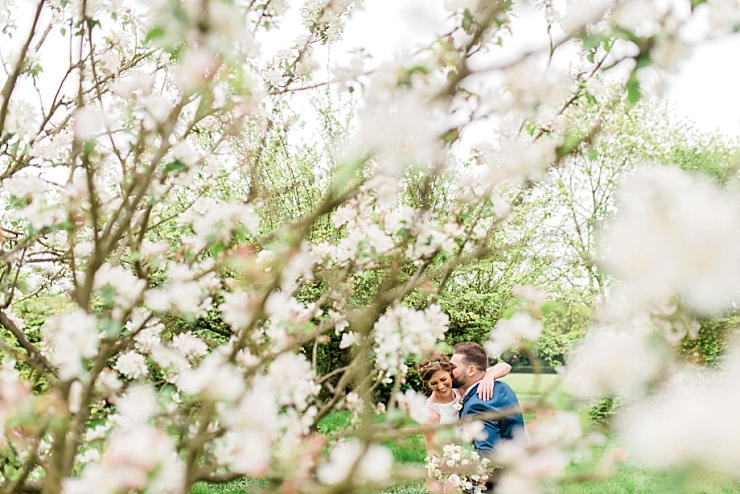 blossom wedding photo