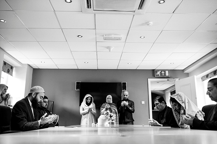 prayer with bride