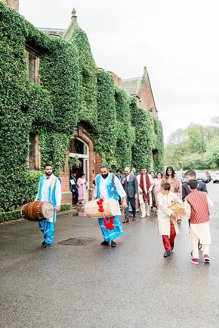 grooms procession at the mere