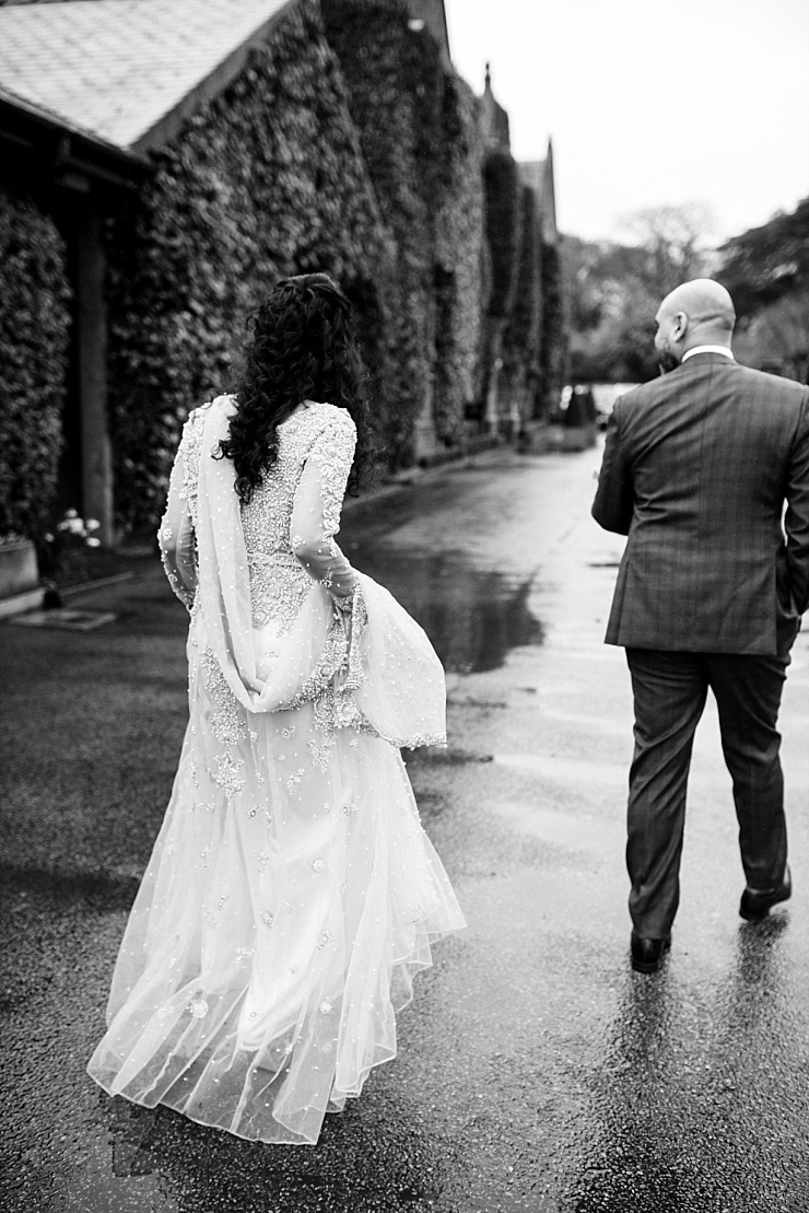 rainy wedding at the mere