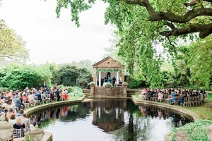 outdoor wedding ceremony micklefield hall