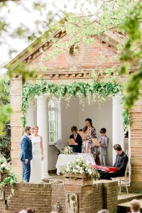 outdoor ceremony at micklefield hall