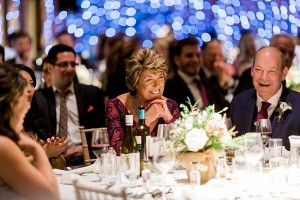 mother of the bride laughs