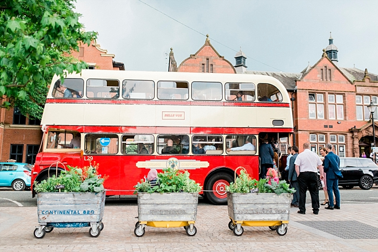 vintage wedding bus in altrincham