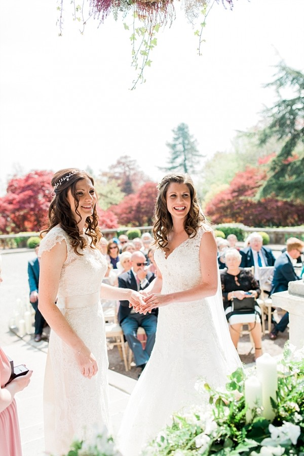 AN OUTDOOR WEDDING AT EAVES HALL : AMY AND AMY