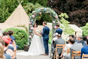 outdoor wedding at tros yr afon