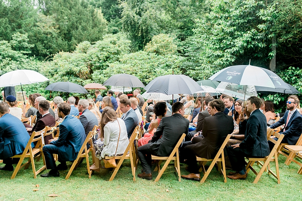 outdoor ceremony in the rain
