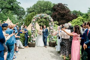 petals florist flower arch anglesey