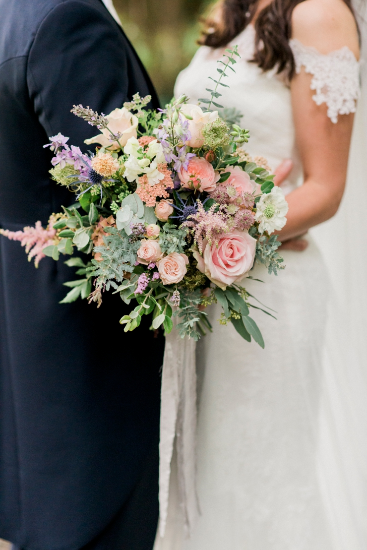 petal and twig bouquet
