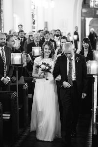 father of bride down aisle