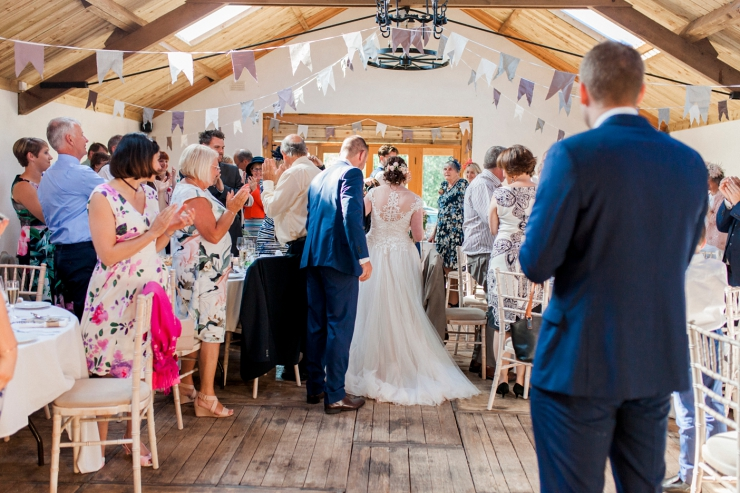 wedding in barn cumbria